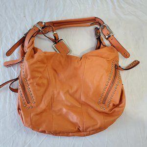 b. makowsky Peach Leather Handbag